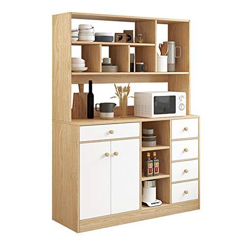 Muebles Modernos Aparador del gabinete de cocina bufé Almacenamiento comedor Armario Mesa con 2 puertas de plataforma abierta for el dormitorio Comedor Aparador ( Color : Wood , Size : 120x30x162cm )