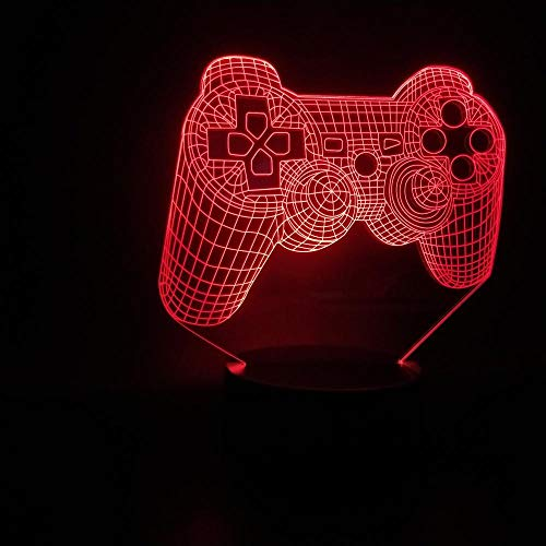 SHJDY Gaming-toetsenbord, klein nachtlampje, 3D-slaaplicht, led-flits, afstandsbediening, USB-voeding, geschikt voor kamerdecoratie Touch.