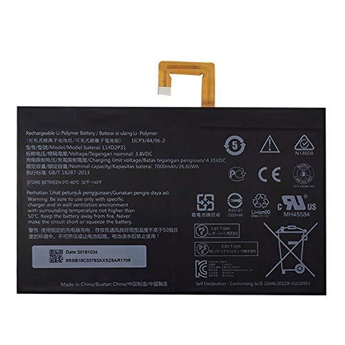 Batería para Lenovo Tab 2 A7600-F A10-70F Tab2 A10-70 A10-70L (3,8 V, 7000 mAh, 26,6 Wh)