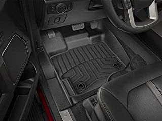 AKM Floor Liner Fit Ford F150 2015-2020, Black Floor Mats (Includes 1st and 2nd Row) fit Supercrew(Crew Cab) Carpet Floor Bucket TPE Material(Updated Version)