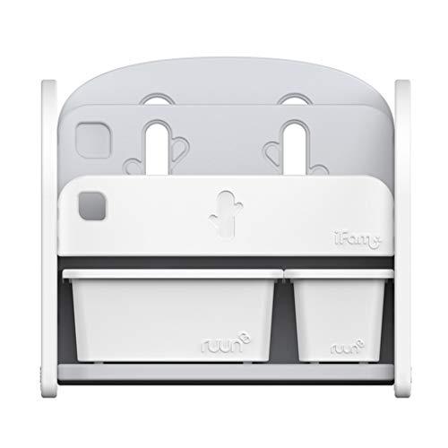 Rangement de dossiers Étagère pour Enfants Jouets Mini Multi-Fonction boîte en Plastique de Grande capacité de Stockage Armoire de Finition Rack (Color : Blanc, Size : 68 * 36 * 62.5CM)
