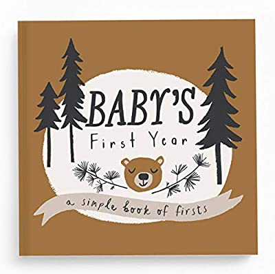 Lucy Darling Little Camper Baby Memory Book - First Year Journal Album To Capture Precious Moments - Milestone Keepsake For Boy Or Girl - Baby Shower Gift - Made In USA by Lucy Darling, LLC
