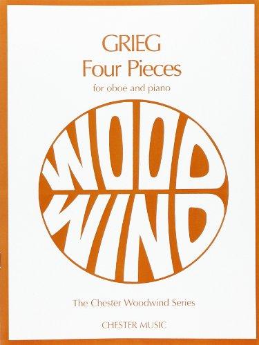 Grieg 4 Pieces -For Oboe, Piano- (Blake): Noten für Oboe, Klavier