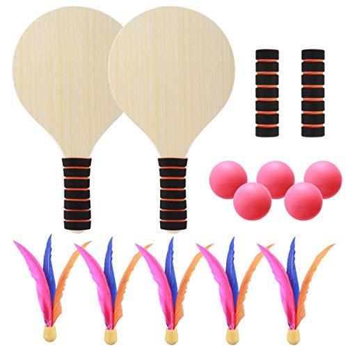 RENFEIYUAN 1 Set Paddle Ball Racket Badminton Tennis PingPong Beach Cricket Paddles Racchette per Lo Sport all'aperto Racchette da volano