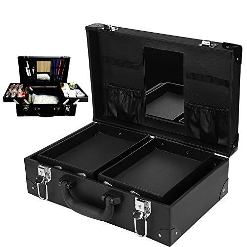 Tattoo Equipment Travel Case, Multi-Functional Tattoo Tool Kit Storage Case Nail Art Tool Cosmetics Organizer Box with Lock(Black)