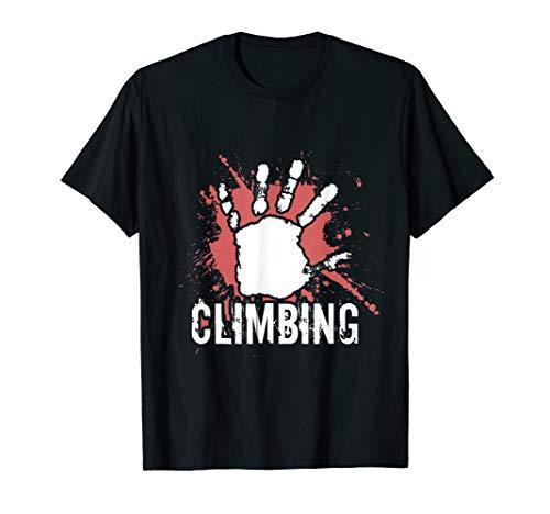 Stylisches Kletterer & Bouldermotiv im Used & Vintage Look T-Shirt