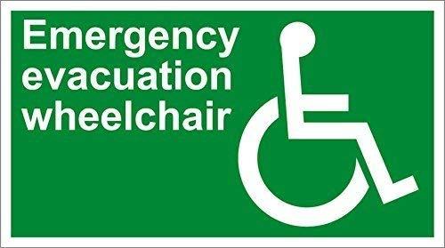 mengliangpu8190 Emergency Evacuatie Rolstoel Veiligheid Osha/Ansi Aluminium Metalen bord 12