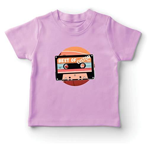lepni.me Camiseta para Niño/Niña Cassette Antiguo Lo Mejor del año 80, 90, 70 (9-11 Years Rosado Multicolor)