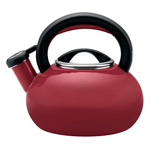 Circulon Sunrise Whistling Kettle/Stovetop Teakettle/Tea Pot, 1.5 Quart, Rhubarb Red