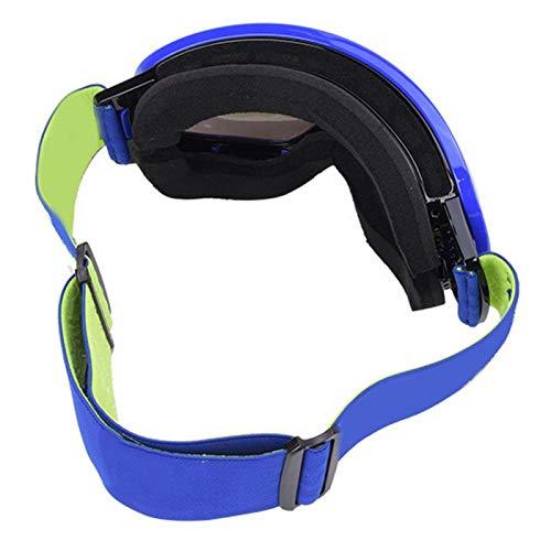 BOLORAMO Tres Capas - Niebla MSD007 - Gafas de Niebla con una Experiencia de Uso cómoda(Blue Frame Gray Full REVO Blue Film, Love Type)