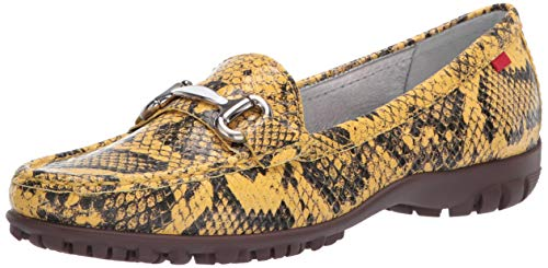 MARC JOSEPH NEW YORK Women's Leather Made in Brazil Grand Street Golf Shoe, Yellow Viper, 7 M US