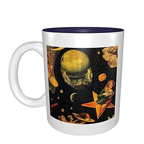 NA The Smashing Pumpkins Mellon Collie And The Infinite Sadness Tazze da caffè in gres con Fondo Piatto per Macchine da caffè - Tazza con Interno Multicolore, Navy UNSB12