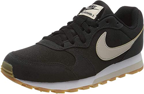 Nike MD Runner 2 SE, Zapatillas de Atletismo Mujer, Multicolor (Black/Desert Sand/Gum Light Brown 003), 40 EU