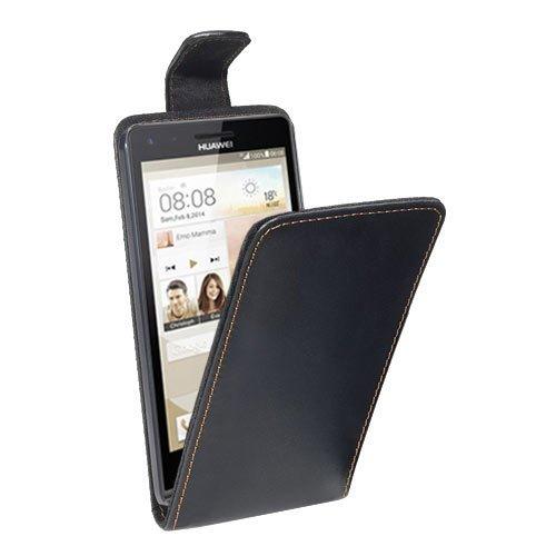 PEDEA Flipcase Hülle für Huawei Ascend G6 Tasche, schwarz