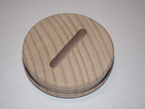 2 x Sparstrumpfscheibe aus Buche mit Schlitz Holzscheibe 5,8 cm Durchmesser