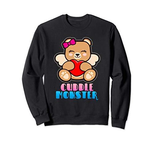Cuddle Monster | Teddy Bär mit Herz | Kuschel Tier Humor Sweatshirt