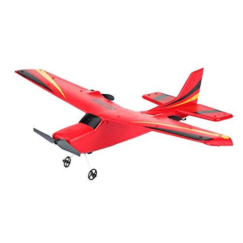 Bnineteenteam Avión Planeador RC, 2 Canales Avión RC Avión de Control Remoto Avión Listo para Volar 2.4g Control Remoto RC Helicóptero Avión Planeador Modelo de avión de Juguete(Rojo)