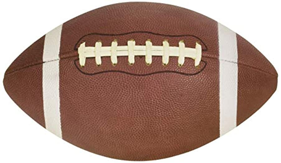 American Crafts Specialty Paper 12 Pack of 12 x 12 Inch Die Cut Football Embossed, Piece