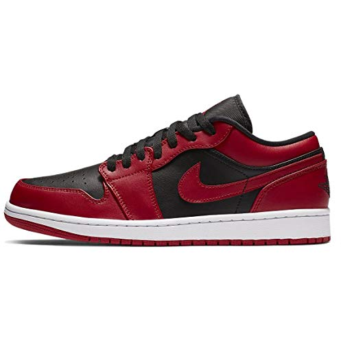 Nike Air Jordan 1 Low, Zapatillas de básquetbol para Hombre, Gym Red Black White, 49.5 EU