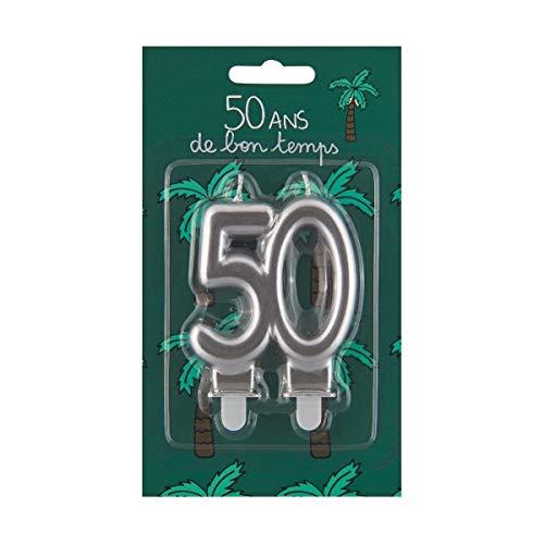 Derrière la porte Bougie d'anniversaire 50 Ans De Bon Temps