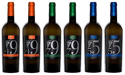 Confezione vino da 6 bottiglie 0.75ml Podere1925: 2 Falanghina, 2 Fiano, 2 Greco |
