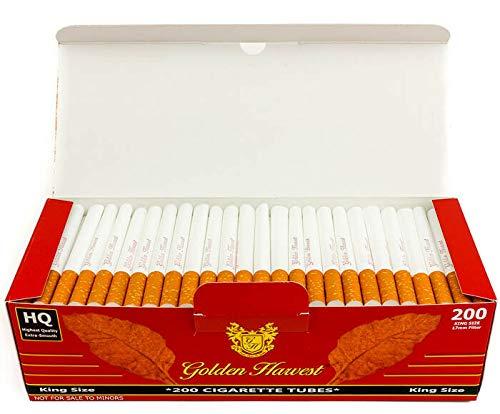 Golden Harvest Cigarette Filter Tubes - Red - King Size(5 Boxes/1000 Tubes)