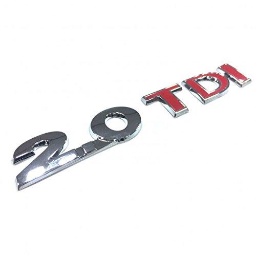 Volkswagen Original VW Tiguan 176 kw 240 PS - Touran UVM. 2.0 TDI Schriftzug 3 mal rote Buchstaben Heck Selbstklebend