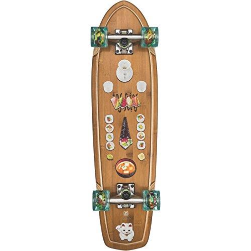 GLOBE Skateboards Tracer Classic Cruiser Complete Skateboard, Bamboo/Sushi, 31