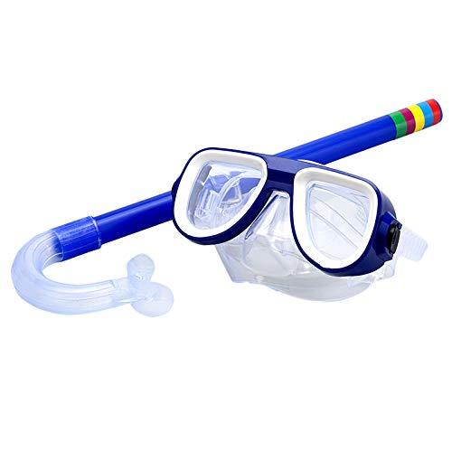 TOOGOO Kinder Safe Schnorcheln Tauchen Maske + Schnorchel Set Schwimmen Set Wassersport für Kinder 3-8 Jahre Alt Blau