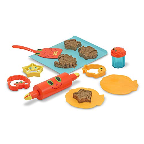 Melissa & Doug Seaside Sidekicks Sand Cookie Set,White