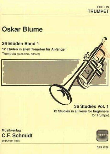 36 Etüden Band 1: für Trompete
