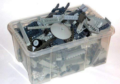 LEGO 1 kg graue Steine ca.700 Teile Kiloware, Platten, Star Wars