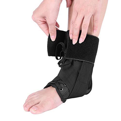 Atmungsaktive Orthese Knöchelbandage Unterstützung, verstellbare Knöchelbandage Atmungsaktives Material Super elastische Hülse, für Sportverletzungen und Verstauchungsschutz(L)