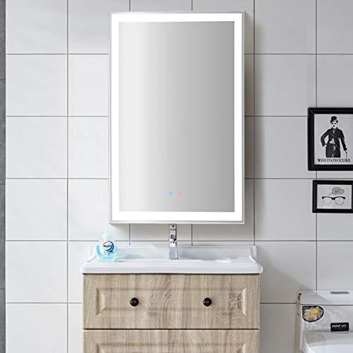 Houssem LED Badspiegel 70×50cm mit Beleuchtung, Badezimmerspiegel Spiegel mit Touch Lichtschalter, Wandspiegel Dimmbar Warmweiß/Kaltweiß/Neutral 3000-6000K Mit Antibeschlag, Wasserdicht IP65