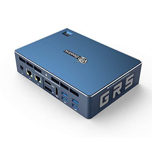 Beelink GTR Mini PC Barebone con Win 10 Pro AMD Ryzen 5 Processore 3550H (fino a 3,7 GHz) Computer desktop grafico Radeon Vega 8, WIFI 6 Bluetooth 5.0 USB 3.0 Doppia porta HDMI WOL