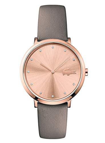 Lacoste Unisex Analog Quarz Uhr mit Leder Armband 2001039