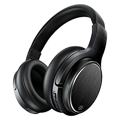Active Noise Cancelling Bluetooth Headphones, Chaobai Headset Over Ear with Hi-Fi Deep Bass Sound, 50 Hours Music Playback Time, Mic, Wireless Wired Mode, for Phones PC TV Tablets from Mreechan