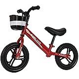 GASLIKE Bicicleta de Equilibrio para niños, sin Pedales, Ruedas de 12/14 Pulgadas, Asiento Ajustable, Primera Bicicleta para niños de 2-8 años de Edad, Estable y Segura,A 12inch Red