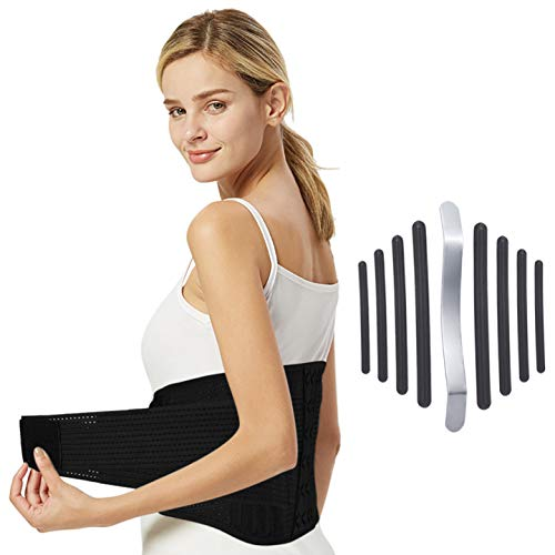Fyore Faja Lumbar Hombre y Mujer Cinturón Lumbar Soporte Lumbar Regulable Tirador Lumbar Apoyo Inferior Espalda Cinturón Venda para Aliviar El Dolor de Espalda y Prevenir Daños Lumbar Hombre/Mujer M