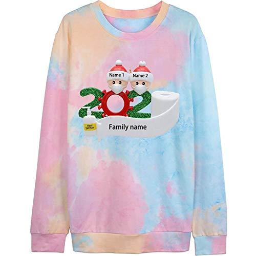 Sweatshirt Women Cute Tie Dye Tees 2020 Shirt Inspirational T Shirts Long Sleeve Tops Blouse Pullover by Vanankni