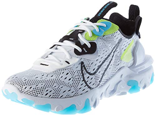 Nike React Vision WW, Zapatillas para Correr Hombre, White Black Volt Blue...