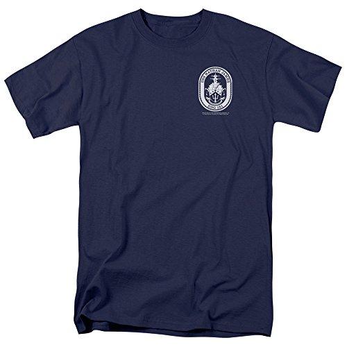Trevco Men's Last Ship Short Sleeve T-Shirt, Port Navy, X-Large