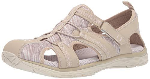 Dr. Scholl's Shoes Women's Andrews Fisherman Sandal, Moon Beige Nubuck/Fabric, 8.5 M US