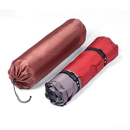 Esterilla de dormir autoinflable gruesa al aire libre playa camping colchón inflable a prueba de humedad Pongee tela almohadilla cojín