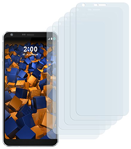 mumbi Schutzfolie kompatibel mit LG G6 Folie klar, Displayschutzfolie (6X)