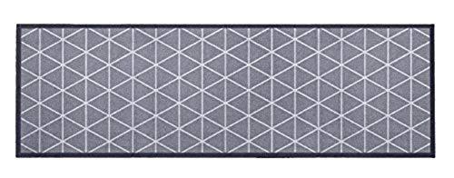 """Küchenläufer / Küchenmatte / Dekoläufer für Küche und Bar / Teppich / Läüfer / Läufer / waschbare Küchenläufer / Küchendeko Modell ,,COOK & WASH grau - mit Muster - """" Größe ca. 50 x 150 cm / Maschinen waschbar auf 30 grad"""