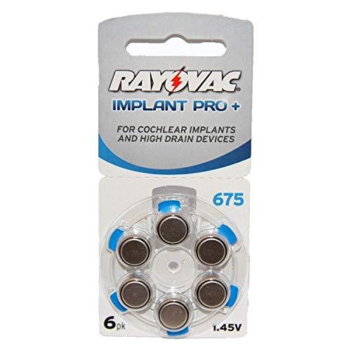 Rayovac - Pilas para implante coclear (audífono), tamaño