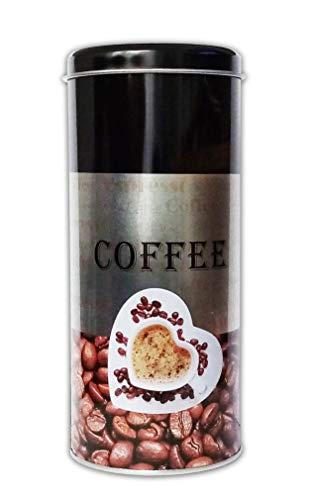 Reinex KAFFEEDOSE Herztasse 18cm Metall Ø8cm Kaffeepaddose Kaffee Paddose Blechdose 01