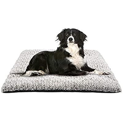 MIXJOY Dog Bed Crate Pad Soft Washable Anti-Slip Kennel Mat for Large Medium Small Dogs and Cats (40'' x 27'')