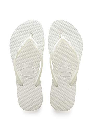 Havaianas Damen Slim' Zehentrenner, Weiß (White 0001), 37/38 EU